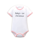 Baby Onesie Pink Christmas Ornament OR802P