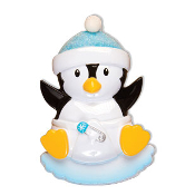 Baby Penguin Blue Christmas Ornament OR1493B