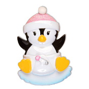 Baby Penguin Pink Christmas Ornament OR1493P