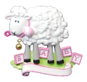 Baby Pink Sheep Christmas Ornament OR891P