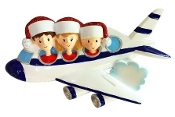 Airplane Family of 3 Christmas Ornament OR1793-3