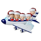 Airplane Family of 5 Christmas Ornament OR1793-5