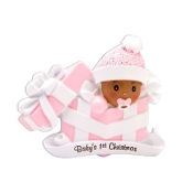 Baby Pink Ethnic Christmas Ornament OR1848P