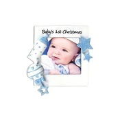 Baby Blue 1st Christmas Photo Frame Ornament PF600AB