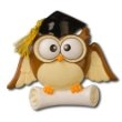 GRADUATE OWL PERSONALIZED ORNAMENT